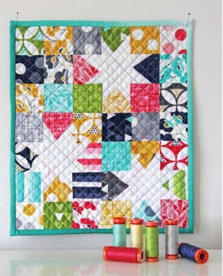 Color Theory Quilt Kit + Aurifil Thread Set-0
