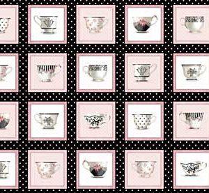 Friendship Tea Teacups Panel-0