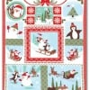 Joy Laughing All The Way Snow Fabric Panel-0