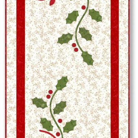 Holly Berries Table Runner Quilt Kit-0