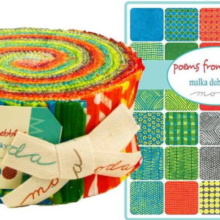 Poems from Pebbles Moda Jelly Roll-0