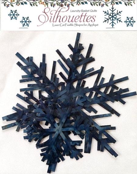 Silhouettes - Snowflakes Blue Batik-0