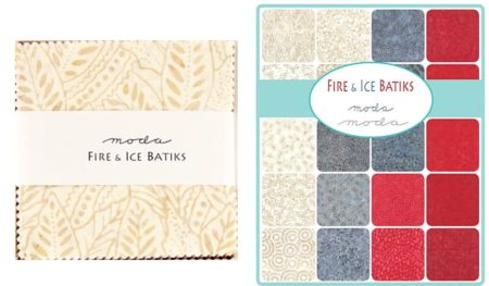 "Fire & Ice Batiks 5"" Charm Pack-0"