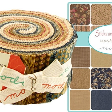 Sticks and Stones Moda Jelly Roll-0