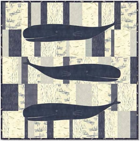 Jolly Whales Quilt Kit-0