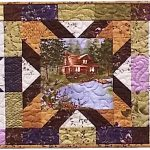 Lady Slipper Lodge Table Runner Quilt Kit -0