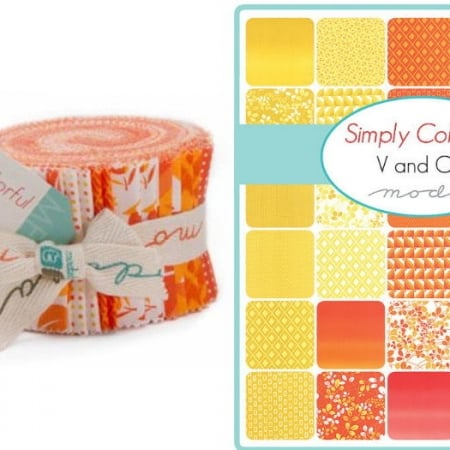 Simply Colorful / Orange Moda Junior Jelly Roll-0