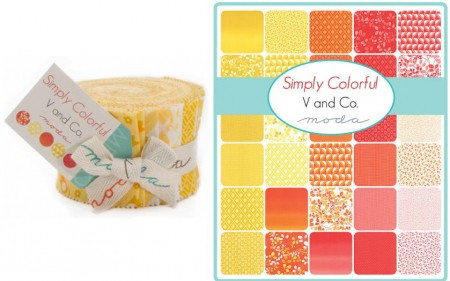 Simply Colorful / Yellow Moda Junior Jelly Roll-0