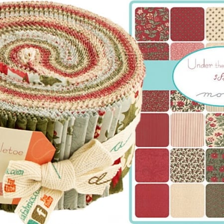 Under the Mistletoe Moda Jelly Roll-0