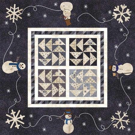 Snowman Gatherings Quilt Kit-0
