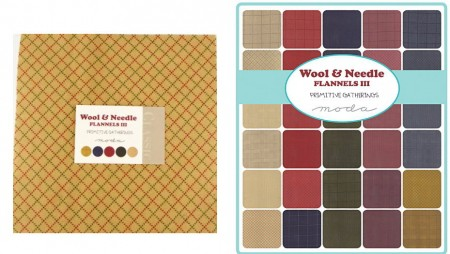 Wool Needle Flannels III Moda Layer Cakes-0