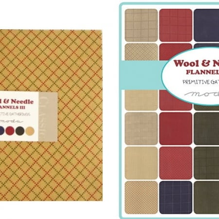 Wool Needle Flannels III Moda Layer Cakes-0