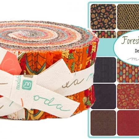 Forest Fancy Moda Jelly Roll-0