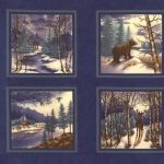 Winter Forest Flannels - Blue Panel-0