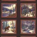 Winter Forest Flannels - Brown Panel-0