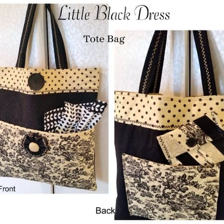 Little Black Dress Tote Bag Kit -0