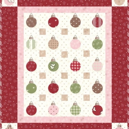 Mistletoe Lane Quilt Kit + Aurifil Thread Set-0