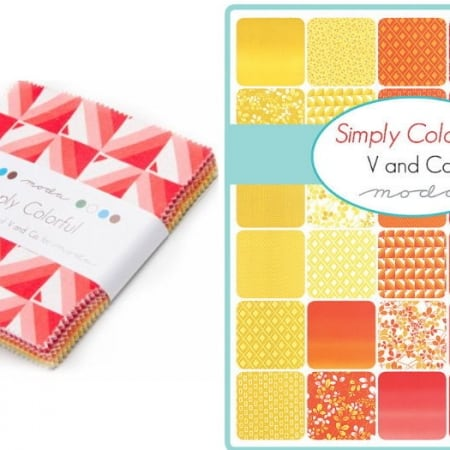 "Simply Colorful 5"" Charm Pack-0"