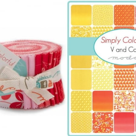 Simply Colorful / Red Moda Junior Jelly Roll-0