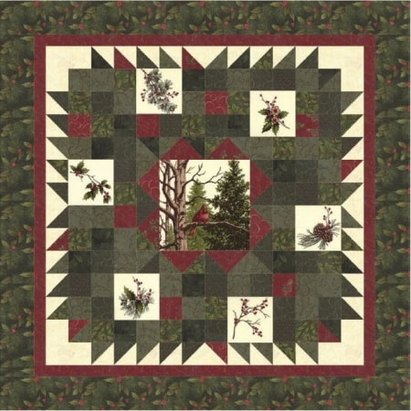Winter's Song Wallhanging/Table Topper + Quilt Book-0