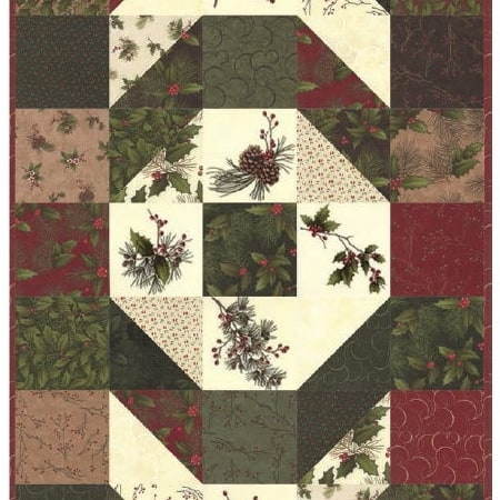 Winter's Song Table Runner Kit + Quilt Book-0