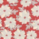 "Winterberry Floral Print Red Prefringed 10"" Blocks-0"