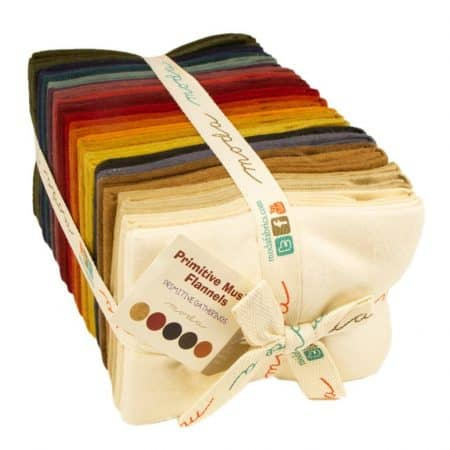 Primitive Gatherings Muslin FLANNEL Fat Quarter Bundle-0