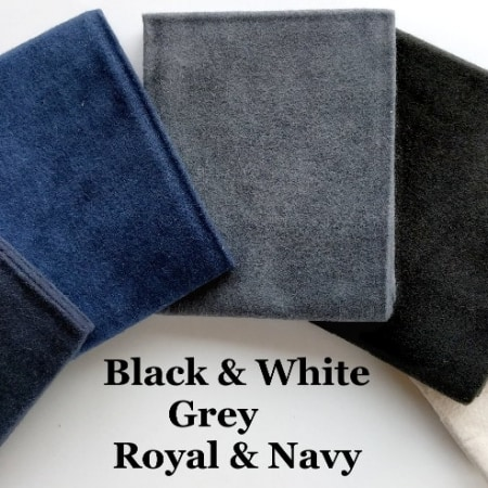 Flannel Black White Blue FQ Bundle + BONUS: 2 Quilt Patterns-0