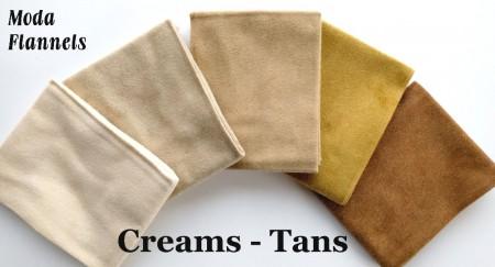 Flannel Creams FQ Bundle + BONUS: 2 Quilt Patterns-0