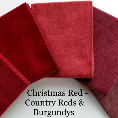 Flannel Reds & Burgundys FQ Bundle + BONUS: 2 Quilt Patterns-0