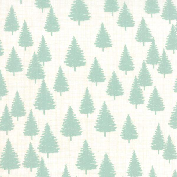 "Winterberry Pine Tree Print Prefringed 10"" Blocks-0"