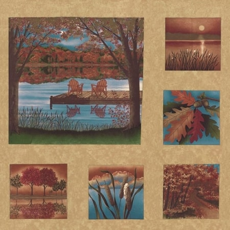 Autumn Reflections Fabric Panel-0