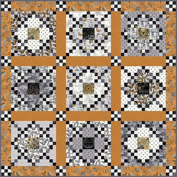 Bee Inspired Quilt Kit-0