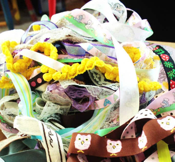 A pile of messy ribbons