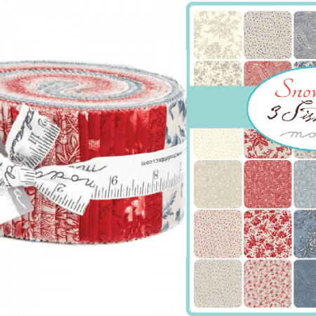 Snowberry Moda Jelly Roll-0