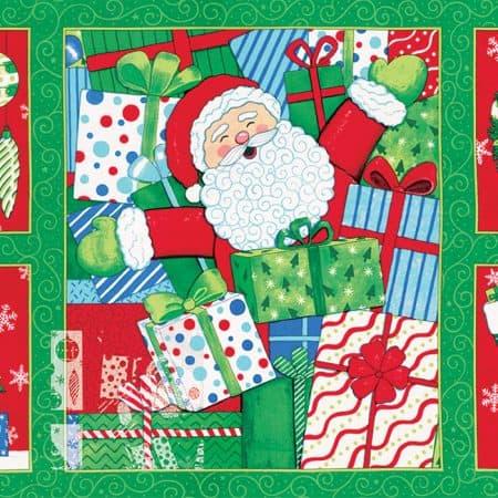 Ho! Ho! Ho! Fabric Panel -0