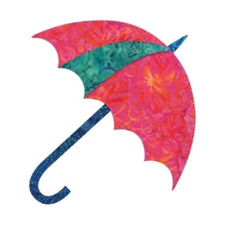 Dancing Umbrella Fusible Applique Silhouettes-0