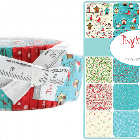 Jingle Birds Moda Jelly Roll-0