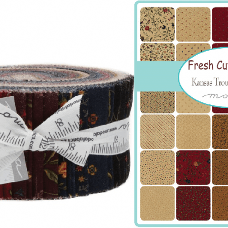 Fresh Cut Flowers Moda Jelly Roll-0
