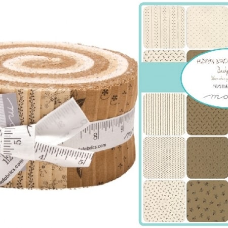 Flower Garden Gatherings Backgrounds Moda Jelly Roll-0