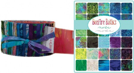Bonfire Batiks Moda Jelly Roll-0