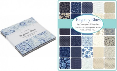 regency blue charm pack - moda fabric