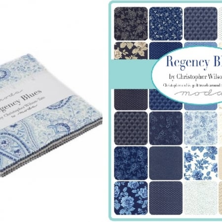 regency blue charm pack - moda fabric