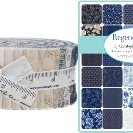 regency blue jelly roll - moda fabric