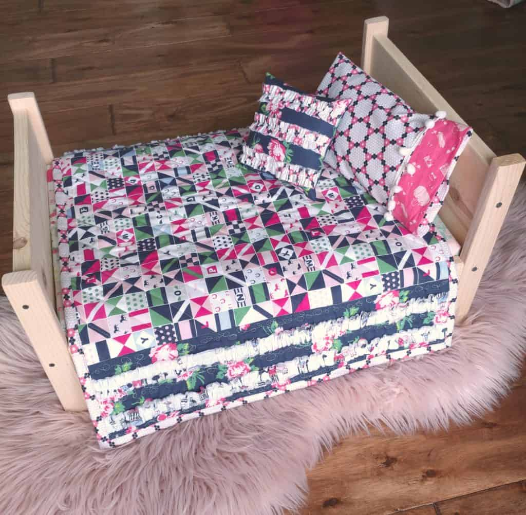 A beautiful ruffle edged blanket