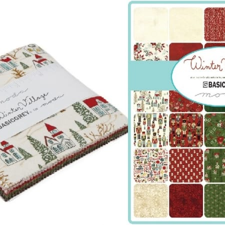 "Winter Village 5"" Moda Charm Pack"