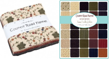 "Country Road Flannel 5"" Charm Pack-0"