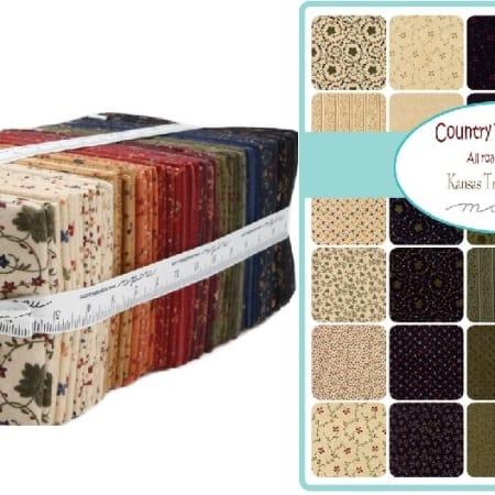 Country Road Flannel Fat Quarter Bundle-0