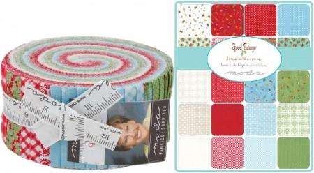 Good Tidings Moda Jelly Roll Fabric