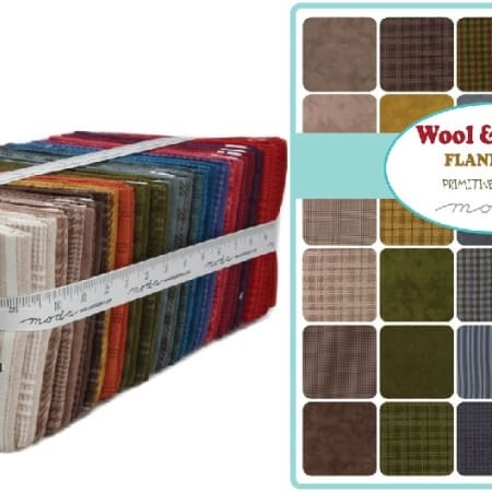 Wool Needle VI Moda Flannel Fat Quarter Bundle 1/4